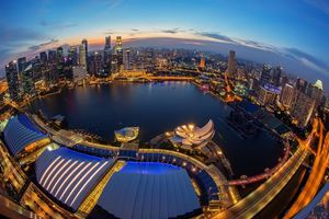 Бесплатные фото Singapore,Сингапур,город,ночь,огни