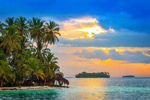Бесплатные фото тропики, море, острова, закат