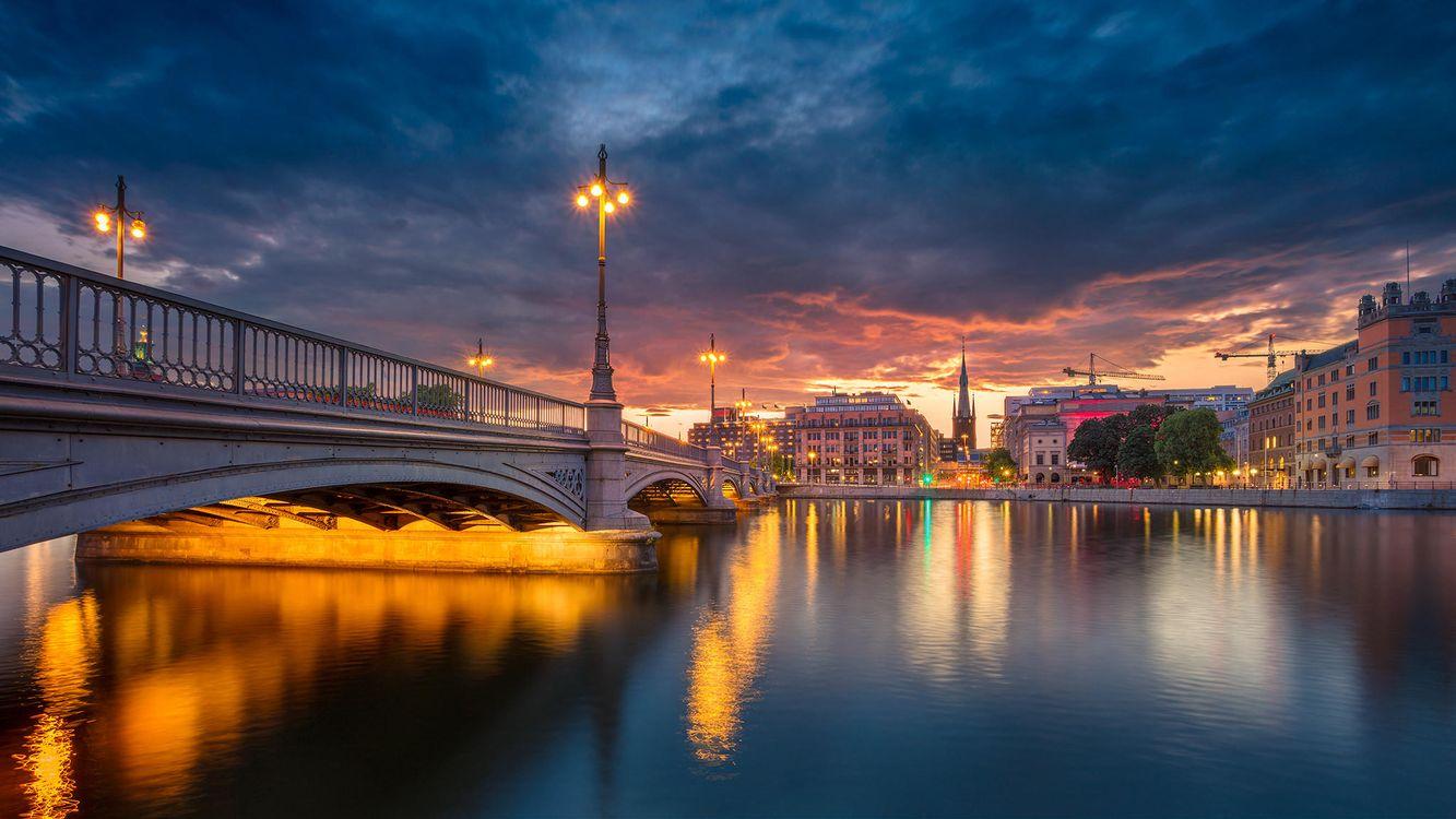 Фото бесплатно Stockholm Panorama, Стокгольм, Швеция, город