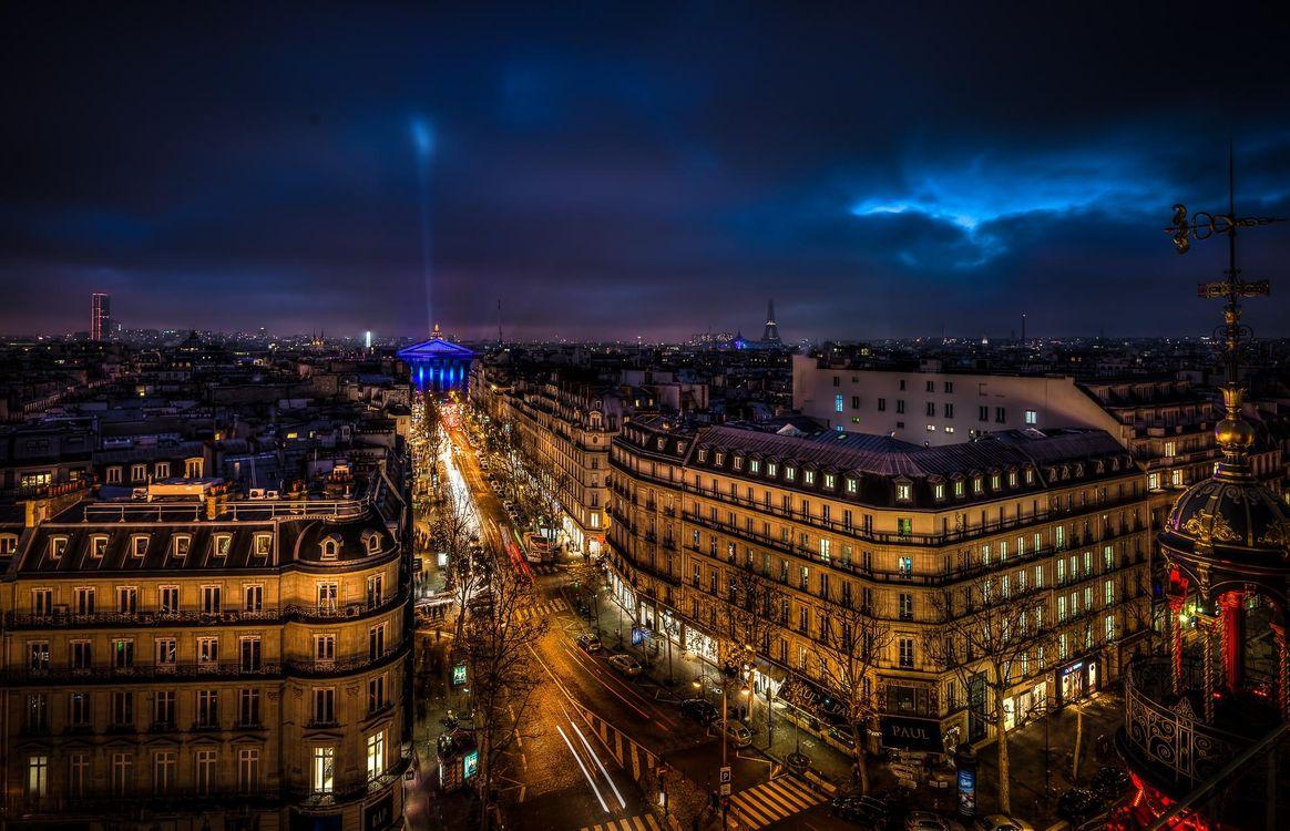 Фото бесплатно Париж, Франция, ночь, город