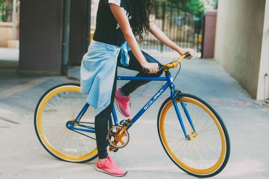 Photo free bicycle, girl, sport