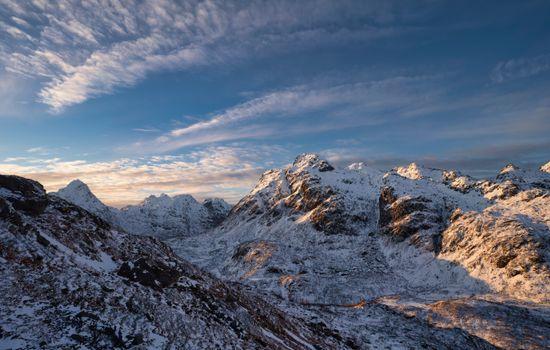 Фото бесплатно снежные горы, природа, небесные облака