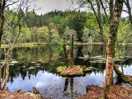 Бесплатные фото Пруд,Гленко-Лохан,Шотландия,пейзаж