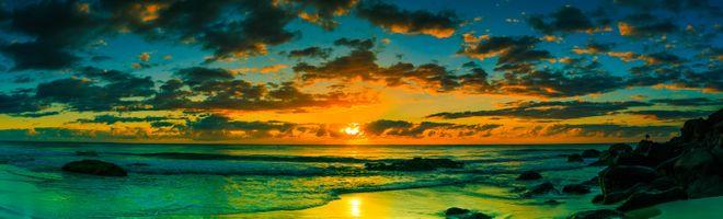 Фото бесплатно панорама, волны, небо