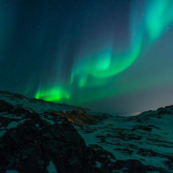 Photo free mountains, atmosphere, night sky