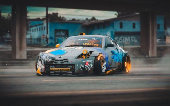 Заставки Nissan, автомобили, абстракция