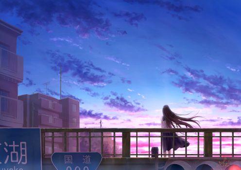 Photo free girl, anime, dawn