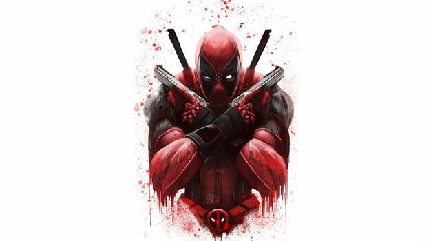 Photo free Deadpool, superheroes, artstation