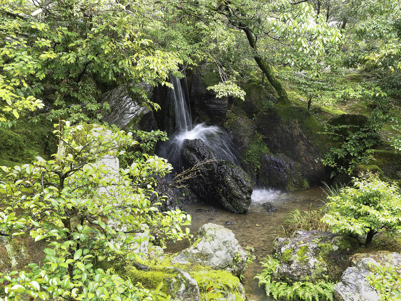 Киото, Япония, водопад