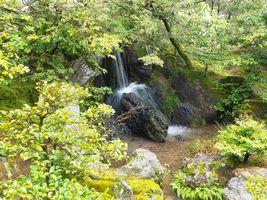 Фото бесплатно Киото, Япония, водопад, парк, деревья, пейзаж