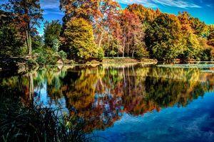 Заставки осень,река,лес,деревья,пейзаж