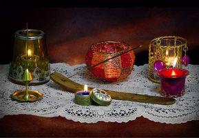 Бесплатные фото стол,свечи,натюрморт