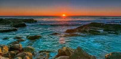 Фото бесплатно панорама, облака, море