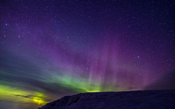 Фото бесплатно северное сеяние, небо, звезды