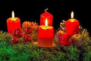 Рождественские свечи · бесплатное фото