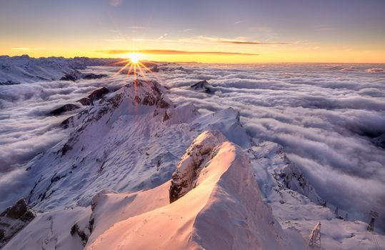 Заставки Сантис, Альпштейнский массив, море тумана