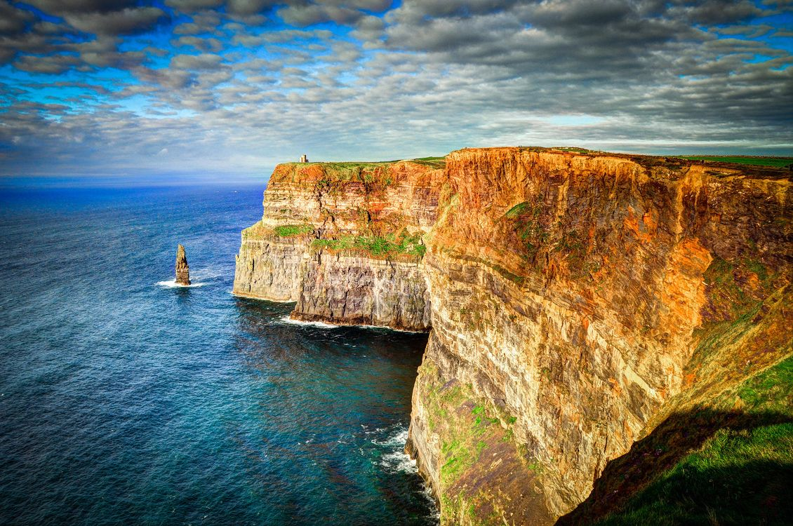 Фото бесплатно море, скалы, Ирландия, пейзаж, пейзажи