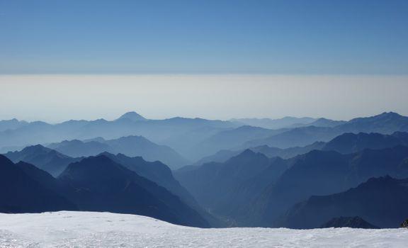 Photo free mountains, sky, snow