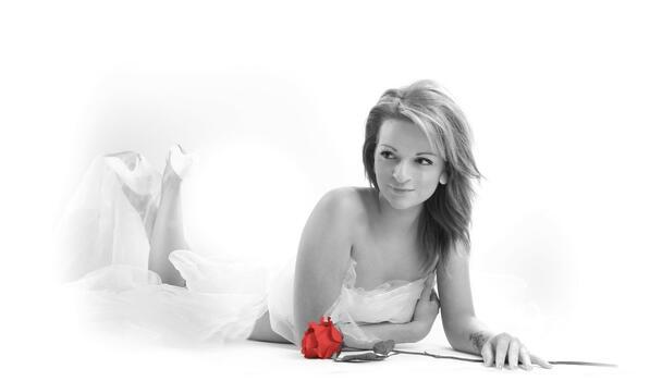 Фото бесплатно женщина, монохромная фотография, роза