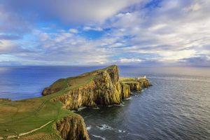 Бесплатные фото Neist Point Lighthouse,Isle of Skye,Маяк Нейст-Пойнт,Остров Скай,закат,остров,море