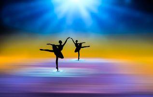 Фото бесплатно абстракция, фон, балерины