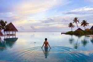 Фото бесплатно девушка, тропики, море