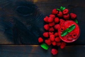 Фото бесплатно десерт, смузи, ягоды