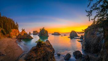 Photo free coast usa, sunrises and sunsets coast, nature usa