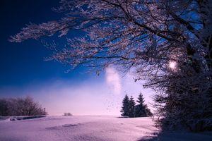 Фото бесплатно небо, синий снег, красивый