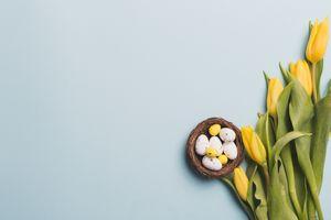 Фото бесплатно цветок, еда, пасха