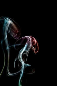 Photo free smoke, colorful, black background