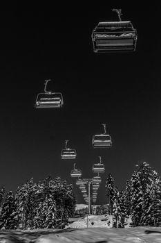 Фото бесплатно снег, свет, черно-белый