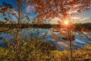 Photo free autumn, sunset, lake