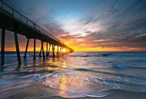 Photo free beach, pier, california