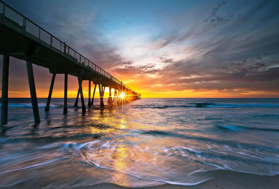 Фото бесплатно пляж, пирс, Калифорния - на рабочий стол