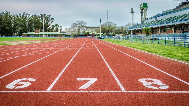 Photo free track, athletics, 100 meters