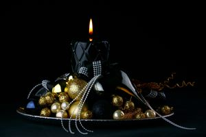 Фото бесплатно Свеча, Рождество, орнамент