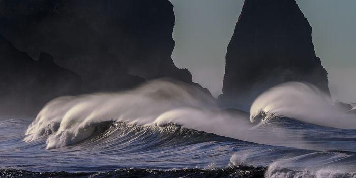 Фото бесплатно утёс, волна, шторм