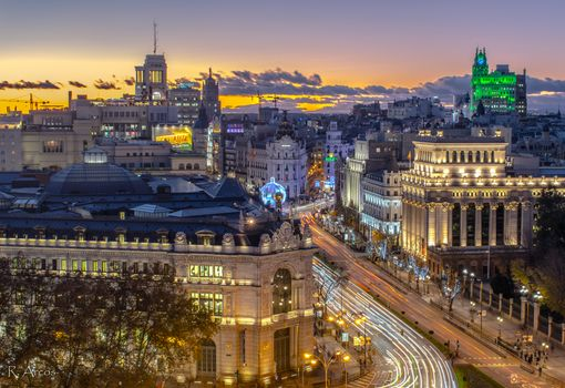 Заставки Madrid, Spain, закат