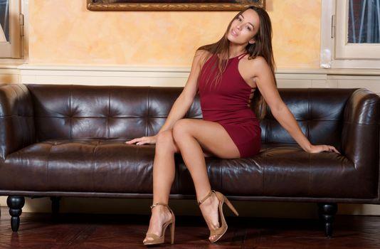 Заставки платье, туфли на шпильке, Dominika A