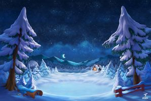 Фото бесплатно звезды, зима, пейзажи