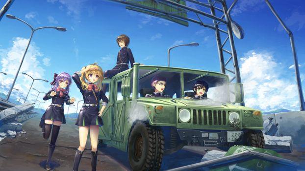 Фото бесплатно аниме девушки, аниме парни, военные
