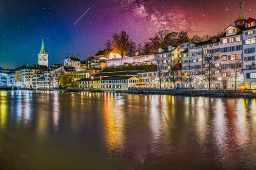 Photo free Limmat river, Zurich, Switzerland