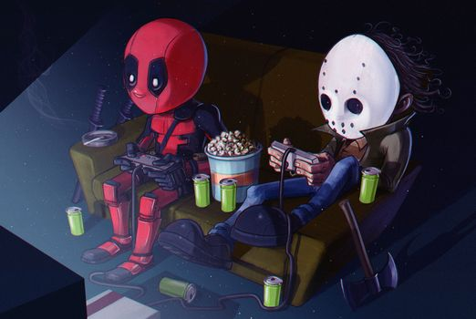 Фото бесплатно Deadpool, супергерои, художественное произведение