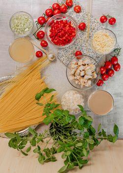 Photo free food, pasta, tomatoes