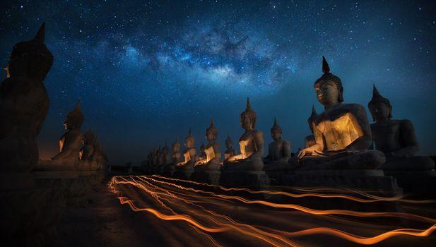 Фото бесплатно статуя, звезды, промежуток времени