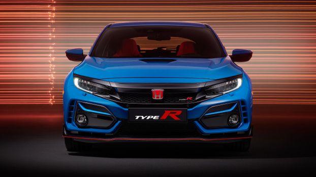 Photo free Honda Civic type R GT, blue, sports cars