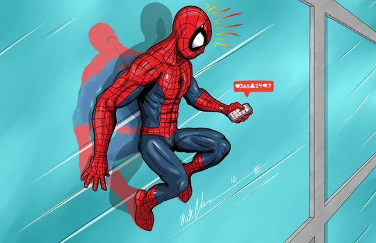 Photo free superheroes, humor, Spider Man