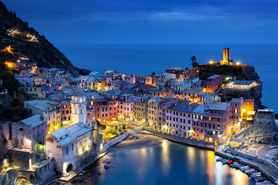 Обои Vernazza, Sunset, Cinque Terre картинки на телефон