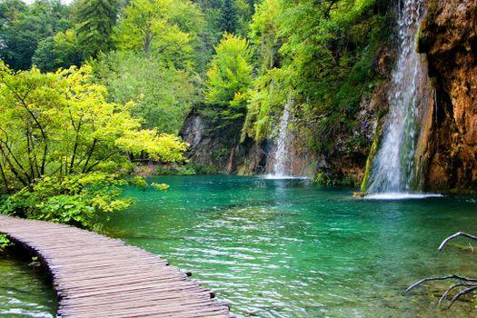Photo free Plitvice Lakes, Croatia, waterfall